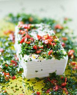 маринованный сыр с орегано