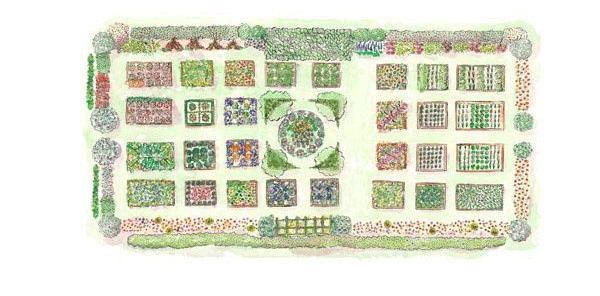 План огорода